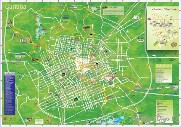 Curitiba Map Tourist Attractions - http://holidaymapq.com/curitiba-map-tourist-attractions-2.html