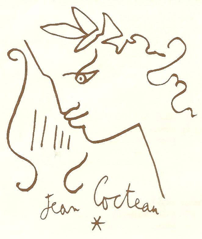 Drawing by Jean Cocteau - Menton - France