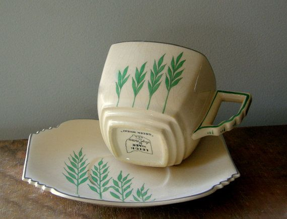Art Deco- love this geometric take on wheat