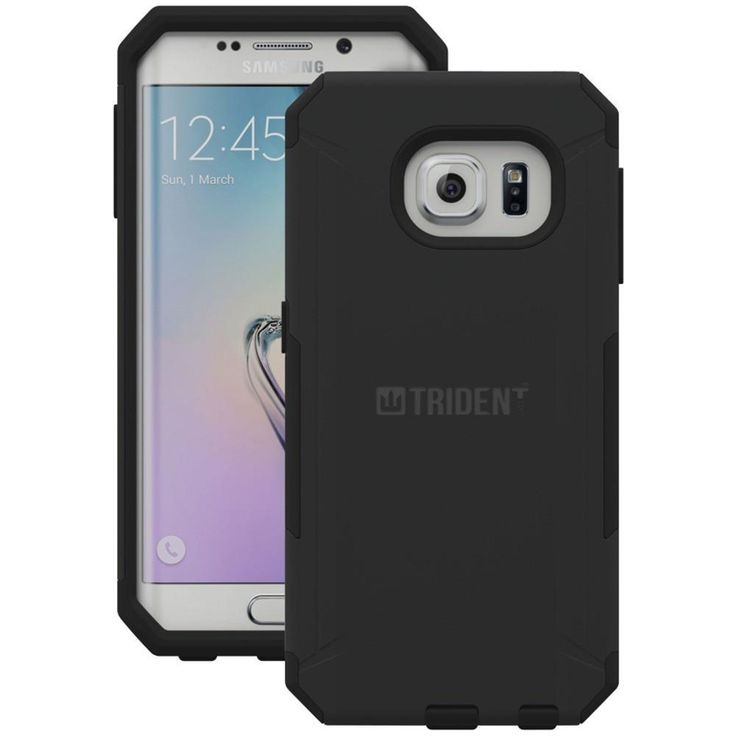 TRIDENT AG-SSGS6E-BK000 Samsung(R) Galaxy S(R) 6 Edge Aegis Series(R) Case (Black). Self-applicable screen protector ;  Dust filters keep out dirt & debris ;  Antiskid design ;  Bio-enhanced polycarbonate construction ;  Meets military standard MIL-STD-810G for vibration & drop protection ;  Black;TRIDENT AG-SSGS6E-BK000 Samsung(R) Galaxy S(R) 6 Edge Aegis Series(R) Case (Black)Condition : This item is brand new, unopened and sealed in its original factory box.