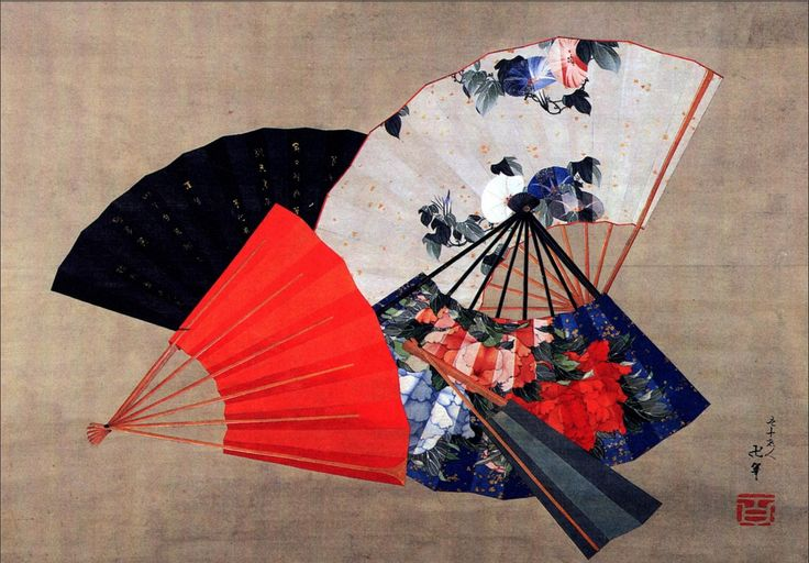 Katsushika Hokusai - Five Fans - Edo Period Discover the coolest art shows in NYC at: https://www.facebook.com/artexperiencenyc