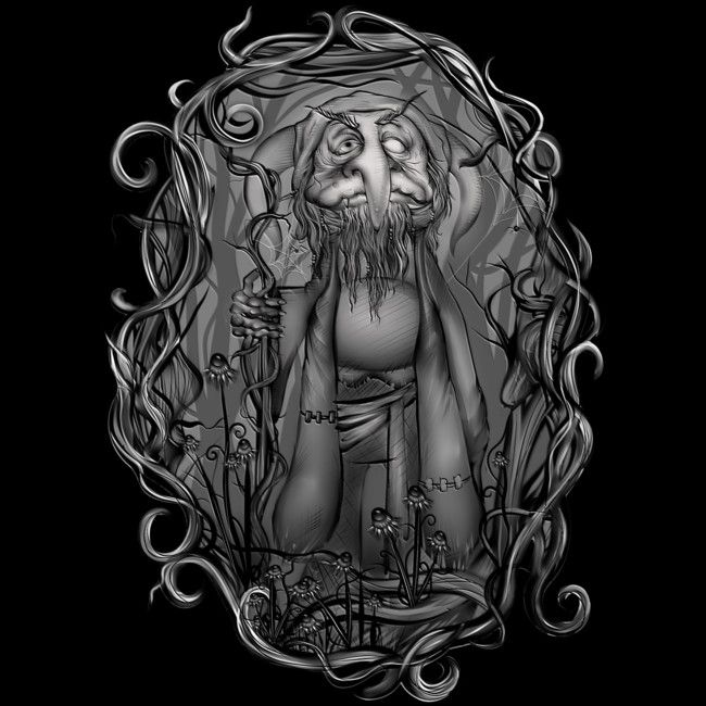 Goblin in the woods is a T Shirt designed by Sketchease to illustrate your life and is available at Design By Humans