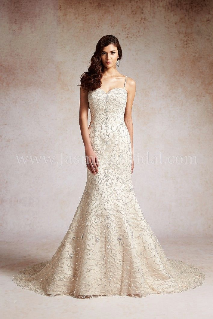 Jasmine Couture Wedding Dresses - Style T152052 #beaded #wedding #dresses
