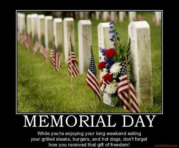 memorial day motivational poster