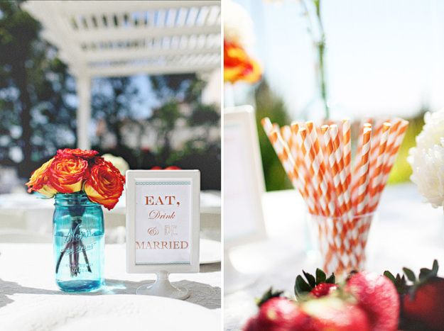 An Orange and Aqua Backyard Bridal Shower | Ultimate Bridesmaid | Alex Rapada Photography