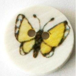 Sommerfuglknapp - gul