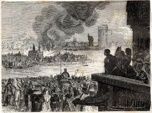 Torture of Jacques de Molay (H. Martin, Hist. De France, 1886) - Bayard