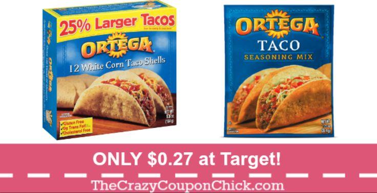 12 Count Ortega Taco Shells & Seasoning Mix as low as $0.27 at Target!
