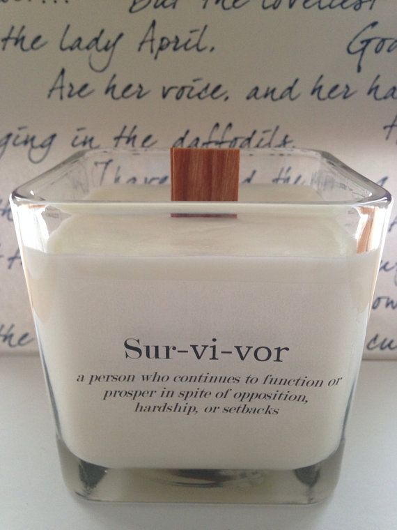 Survivor Candle  12 oz Pure Soy Candle  Choose by VintageCreated