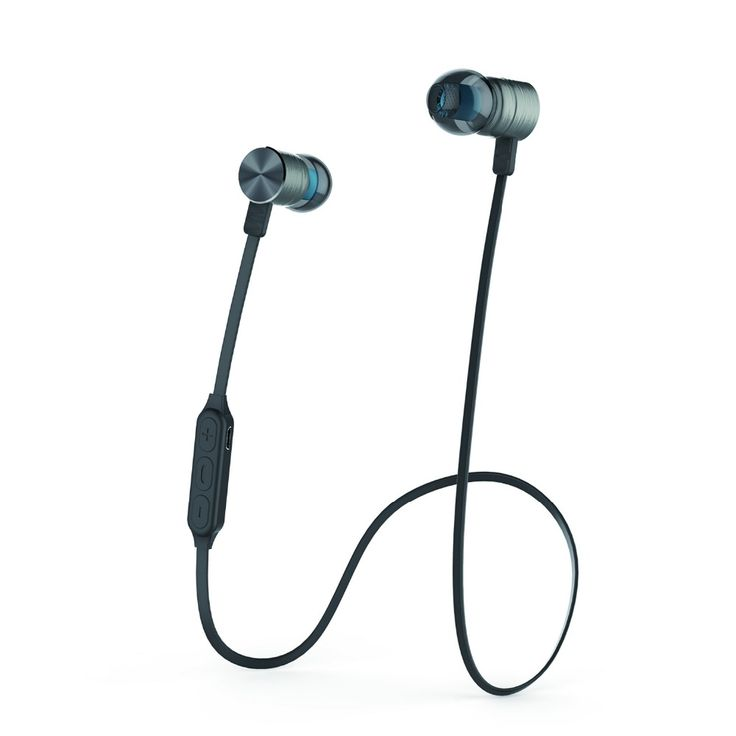 Neckband Sport Bluetooth 4.0 Earphone Magnetic Noise Reduction Wireless Stereo Blue tooth Headset with Microphone Plextone BX325