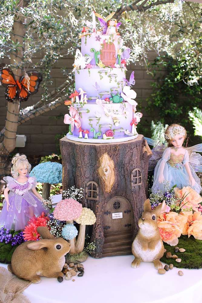 Magical fairy birthday party! See more party ideas at CatchMyParty.com!