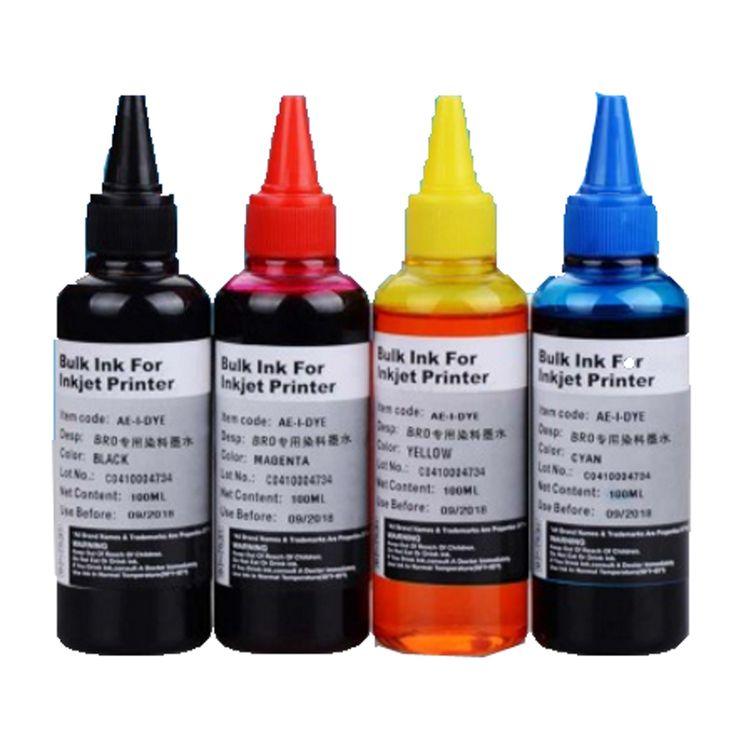 400ML Refill Ink kit Universal for Epson Canon HP Brother Lexmark DELL Kodak Inkjet Printer CISS Cartridge Printer Ink 4 PCS