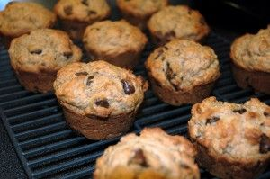 Whole Wheat Banana Chocolate Chip Muffins   recipe is at http://willingcook.com/recipe-whole-wheat-banana-chocolate-chip-muffins/        I'm gonna try these, I hope they are as good as the nes at Mimi's Cafe!!!