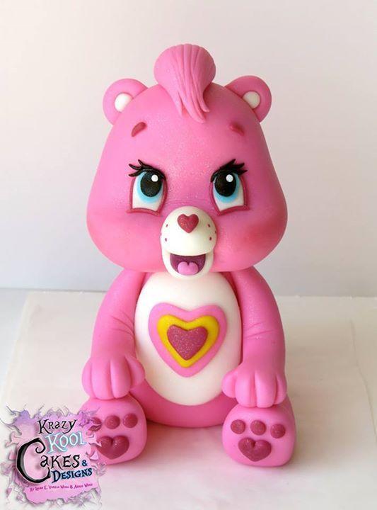 Tenderheart, Care Bear Cake topper - by Krazy Kool Cakes & Designs