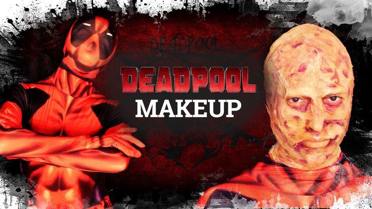 Great unmasked #deadpool makeup tutorial. The suit is available at Funidelia  ---------------  Tutorial de #maquillaje para transformarse en la version sin máscara de #masacre. El Disfraz es un Morphsuit de Deadpool, disponible en #funidelia