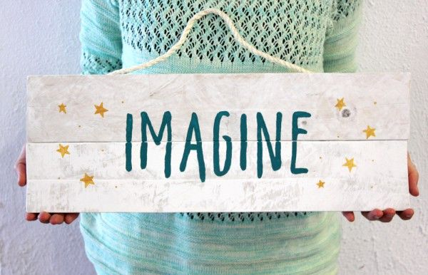 Imagine - Carteles de madera                                                                                                                                                                                 Más