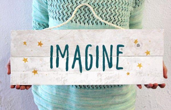Imagine - Carteles de madera