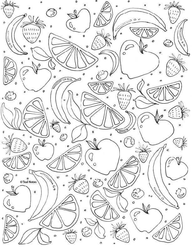 25 Printable Adult Coloring Pages You Can Print And Color For Free Fruit Coloring Pages Printable Adult Coloring Pages Coloring Pages