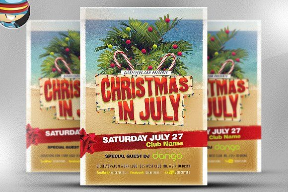 Christmas In July Flyer Template V2 By FlyerHeroes On