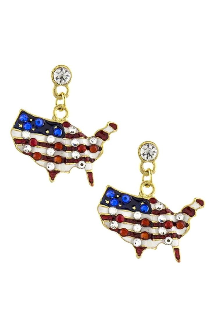 Checkout our #awesome product Patriotic American Geo Map Earrings / AZERPT027-GRB-PAT - Patriotic American Geo Map Earrings / AZERPT027-GRB-PAT - Price: $55.00. Buy now at http://www.arrascreations.com/patriotic-american-geo-map-earrings-azerpt027-grb-pat.html