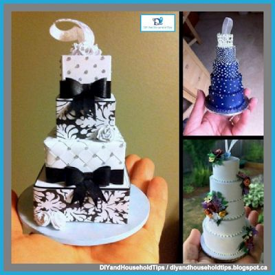 DIY And Household Tips: Turn Your Wedding Cake Into A Beautiful Christmas ...