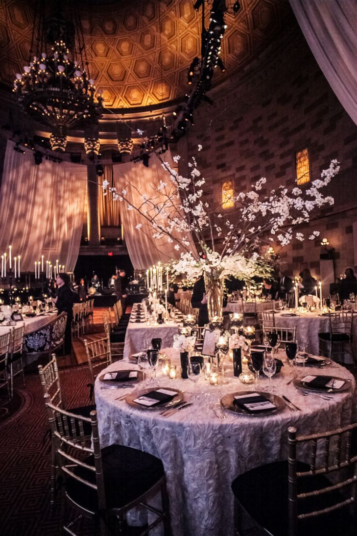 A Glamorous Winter Wedding With Art-Deco Touches at Gotham Hall in New York City