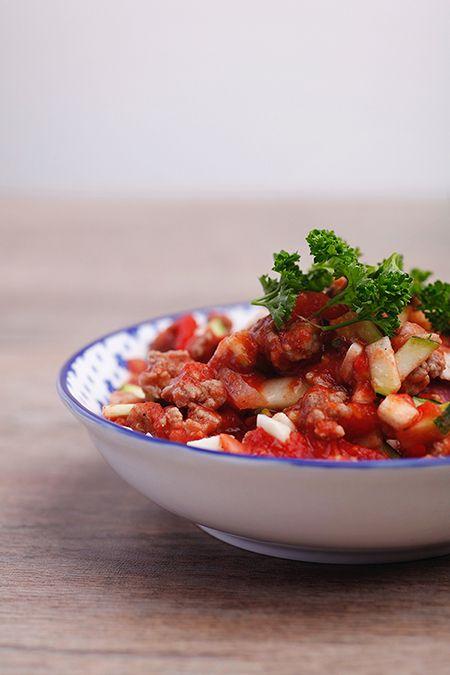 Low Carb Zucchini Hackfleisch Pfanne