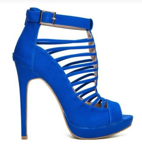 Blue strappy #heels