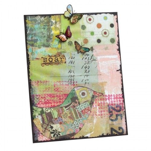 Memo bord metal met illustratie en magneten Memo bord metal met illustratie en magneten Kelly Rae Roberts  Soar - opstijgen  Prachtig metalen memobord, deze kun je neerzetten met een standaard of ophangen.  Er zitten 3 vlinder magneten bij zodat je je memo's kunt vastzetten.  Afmeting: 36 cm breed en 46 cm hoog