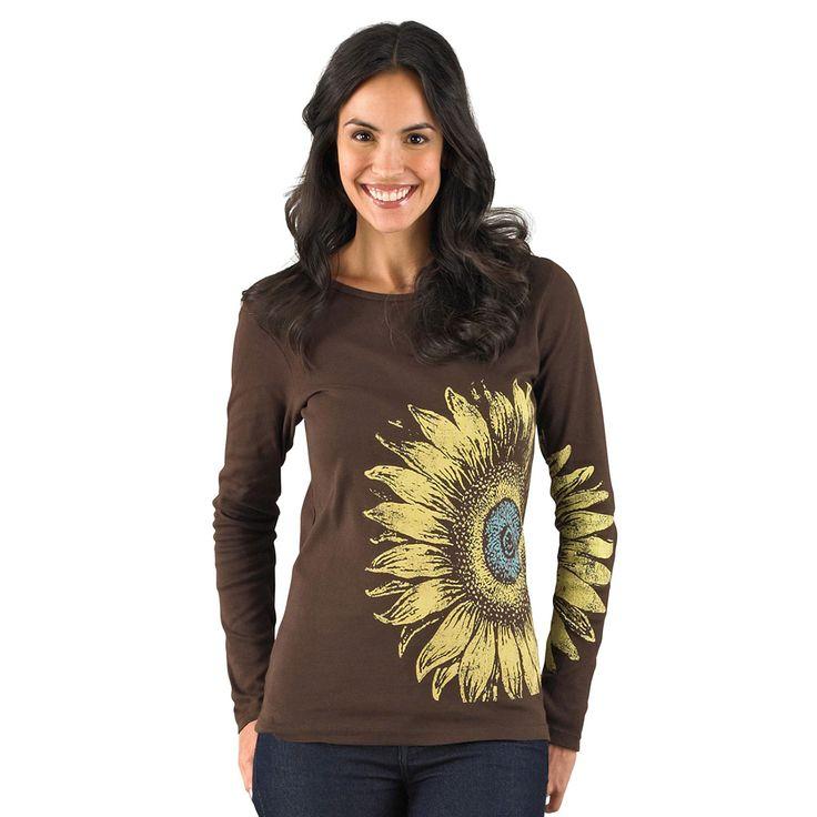 Long-sleeve Sunflower USA-made Organic T-shirt | Green 3 ...