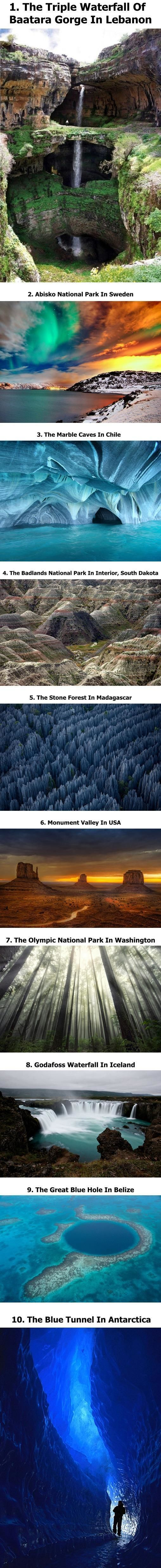 Awesome Places I would love to see.