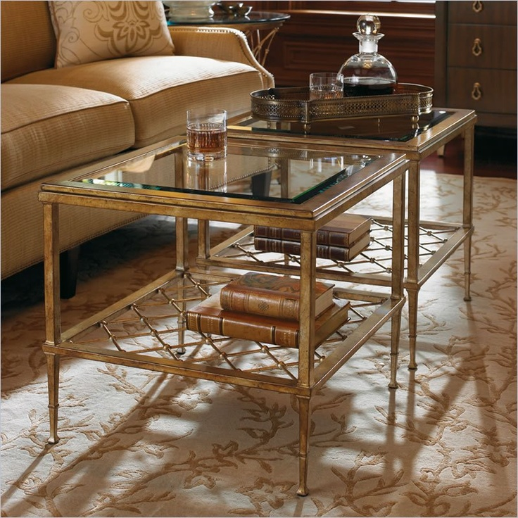 Lexington St.Tropez Sanremo Bunching Cocktail Table In Gold Finish Cymax:  $622.