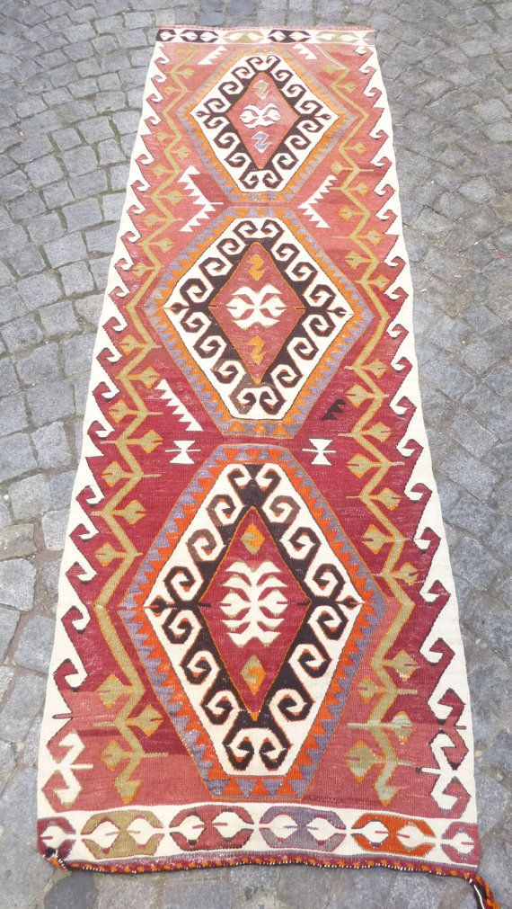 Fine Kilim Runner Rug Vintage Turkish Corridor Carpet Ethnic Area Decorative Woven Fast Free Delivery Modern Bohemian Decor On Etsy 385