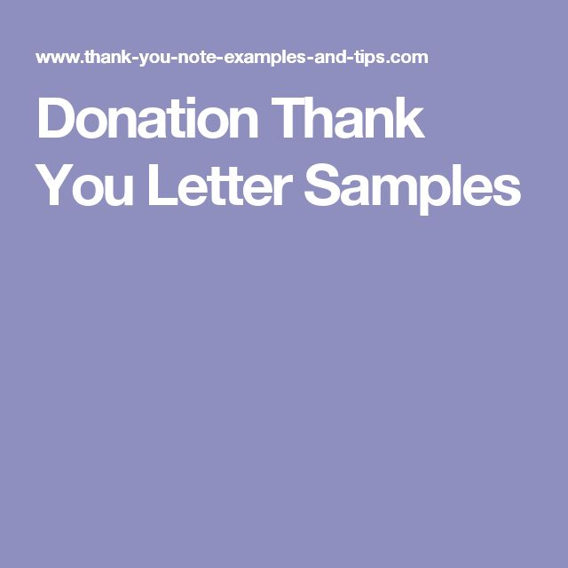 Oltre 25 idee originali per Donation thank you letter su Pinterest - donation thank you letter