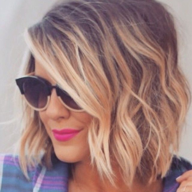 rooty blended blonde balayage