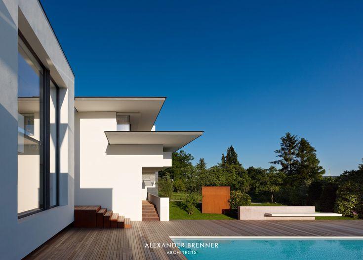 Overlooking Stuttgart From Its Hillside Location, The Modern Vista House By  Alexander Brenner Architekten Displays An Privacy Perfect Angular Design.