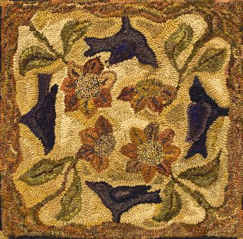 A Of Crows By Lin Wells Pattern Only Or Complete Rug Hooking