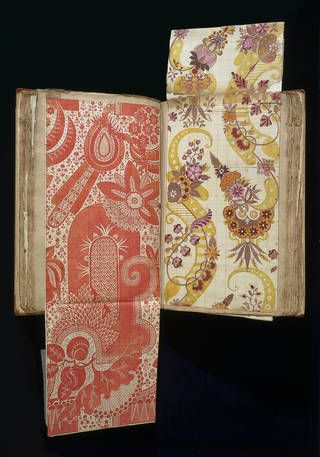 one of the textile world's great treasures, an album of 97 astonishingly vibrant designs on paper for woven silk fabric, Europe's earliest dated silk designs,created by Huguenot master weaver and designer James Leman (1688 – 1745), a prominent member of the Spitalfields silk industry in London's East End.