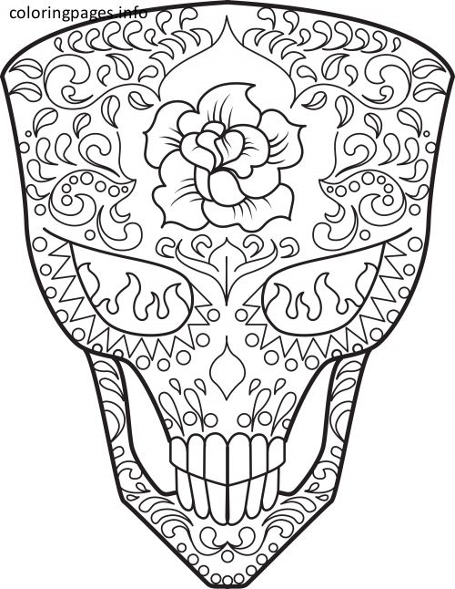 16 best Sugar Skull Coloring Pages images on Pinterest | Malbücher ...