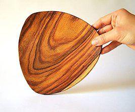 Nádoby - Drevený tanier Triangle   Abstract Triangle Snack plate / Valet tray - 8185214_