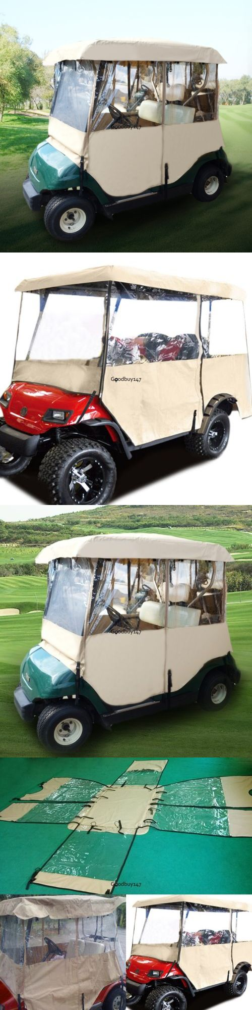 Push-Pull Golf Carts 75207: Golf Cart Rain Cover Enclosure For Club Car 2 Person Yamaha Precedent Ez Go -> BUY IT NOW ONLY: $54.69 on eBay!