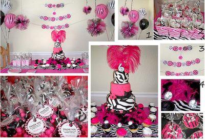 zebra print party