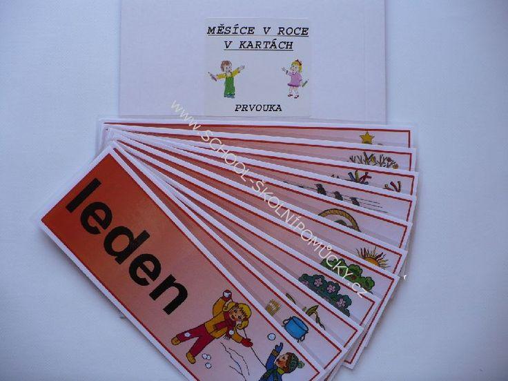 Měsíce v roce v kartách (12xA4)   Učebnice Vaníček