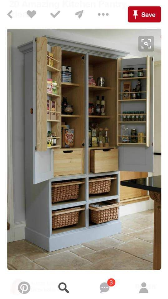 freestanding pantry cabinet 1000 ideas about free standing pantry on 15626