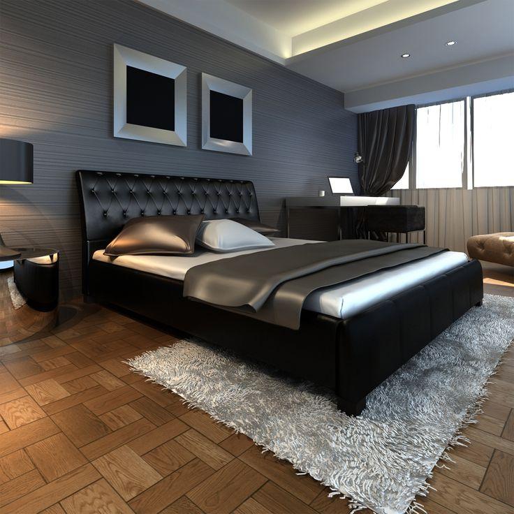 Luxus Kunstlederbett 180x200cm Lattenrost Kunstleder Bett Lattenrahmen Rahmen | eBay