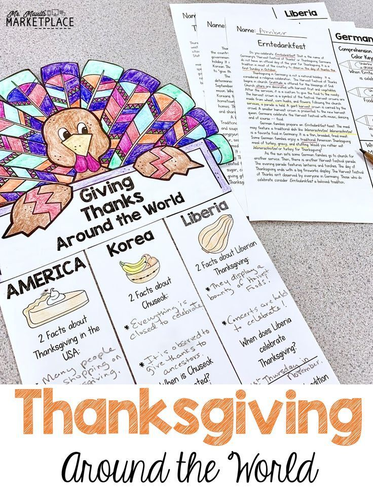 We Have Kids Study Christmas Around The World So Why Not Have Our Students Thanksgiving Literacy Activities Thanksgiving Third Grade Fall Classroom Activities