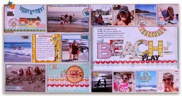 Scrapbook Tendance: Petites infos!+ Un project life pour nos vacances…