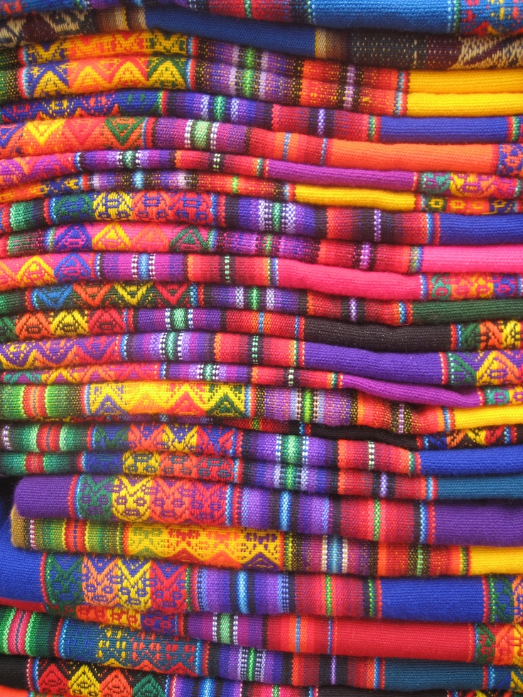 Nice Colorful Peruvian Tablecloths!