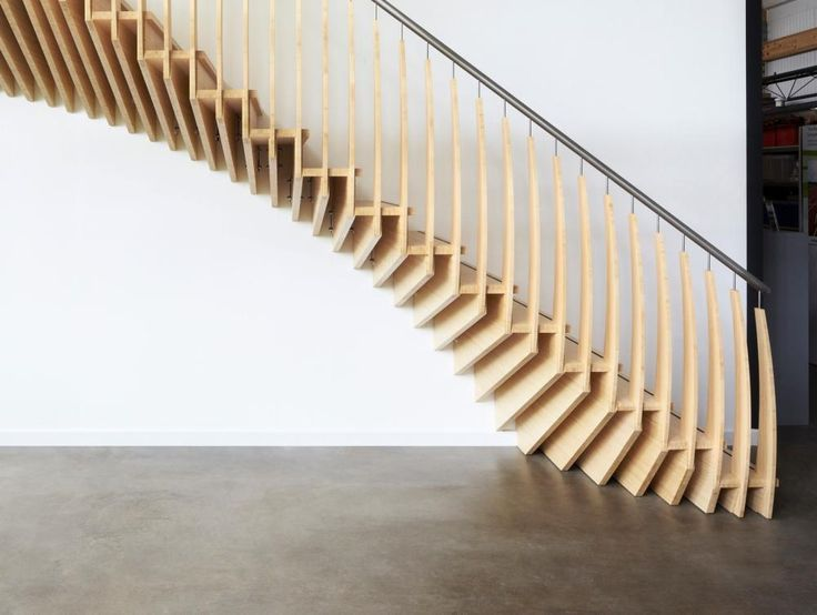An almost mind bending staircase.