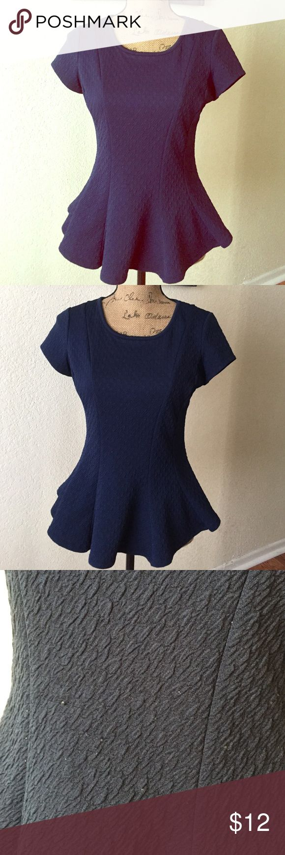 CUTE PEPLUM TOP❤️ Cute & lovely PEPLUM Blouse BCX royal blue  barely used couple little sticky lint but great condition BCX Tops Blouses